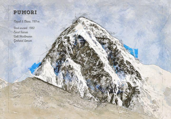 Pumori Mountain - Theodor Decker