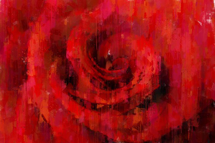 Big Red Rose - Theodor Decker