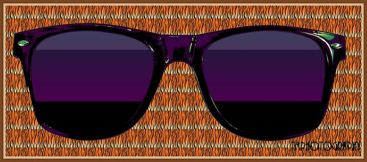 Orange Zebra Print Glasses - TMphotographyBaltimore