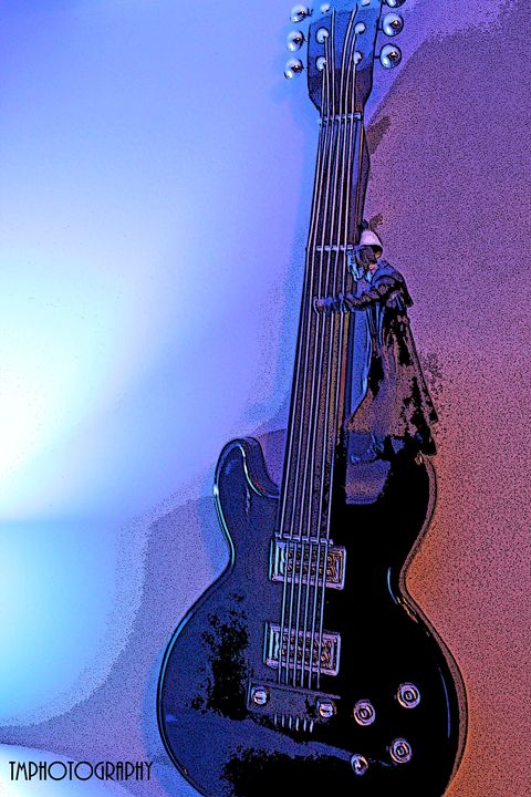 Pink and Purple effect Guitar - TMphotographyBaltimore