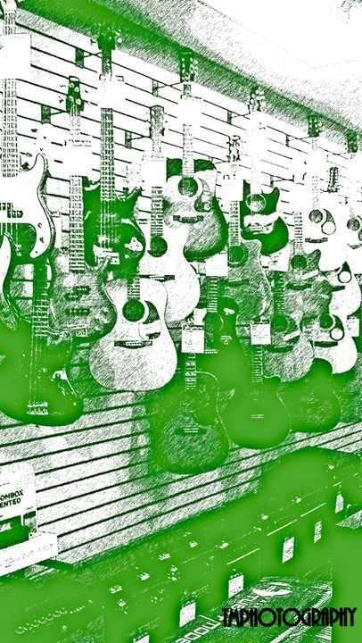 Green Guitar Shop - TMphotographyBaltimore