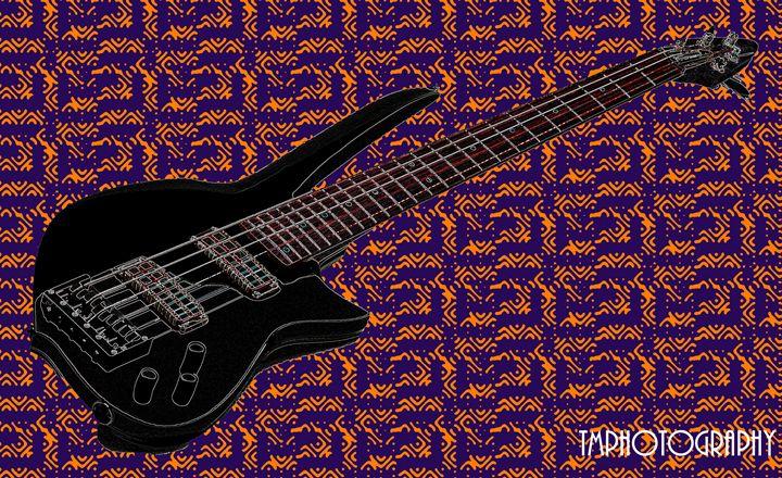 Guitar/Blue Background - TMphotographyBaltimore