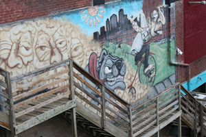 Graffiti Down the Stairs Howard St.