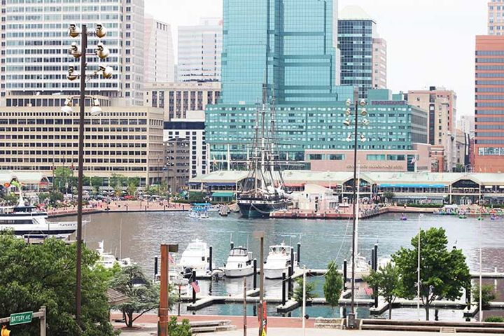 Boats and Buildings View - TMphotographyBaltimore