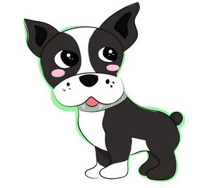 Chibi Boston Terrier
