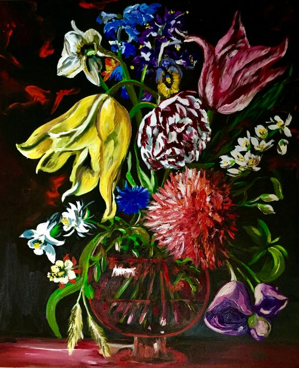 Bouquet with tulips - Olga Koval