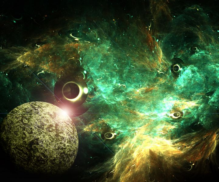 3D illustration artwork of space - Stocklady