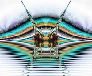 Computer generated abstract colorful