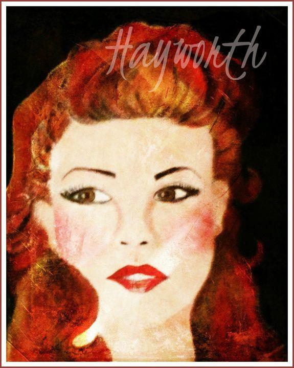 Portrait Print of Rita Hayworth! - La Casa De Seviles