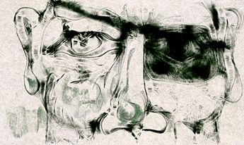 Digital Abstraction of Man's Face - La Casa De Seviles
