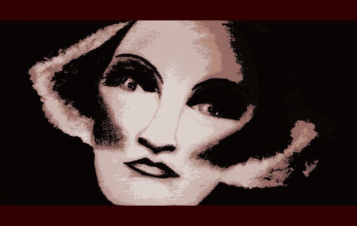 Painting of Marlene Dietrich - La Casa De Seviles