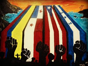 Latino Pride Flag Painting!