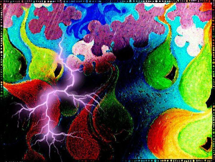 Digital Pop Art Print of Rain! - La Casa De Seviles