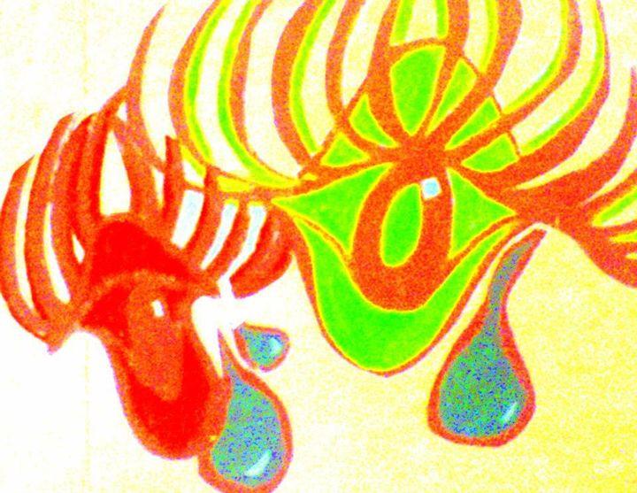 Abstract Wall Art of Crying Eyes! - La Casa De Seviles