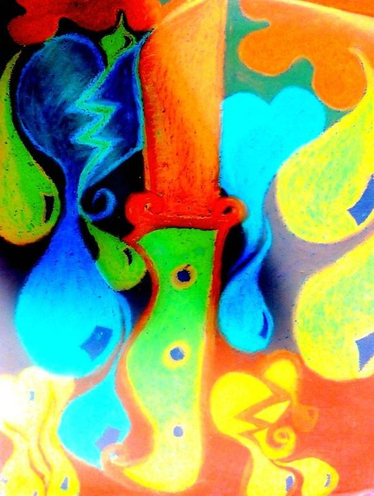 Psychedelic Wall Art with Knife - La Casa De Seviles