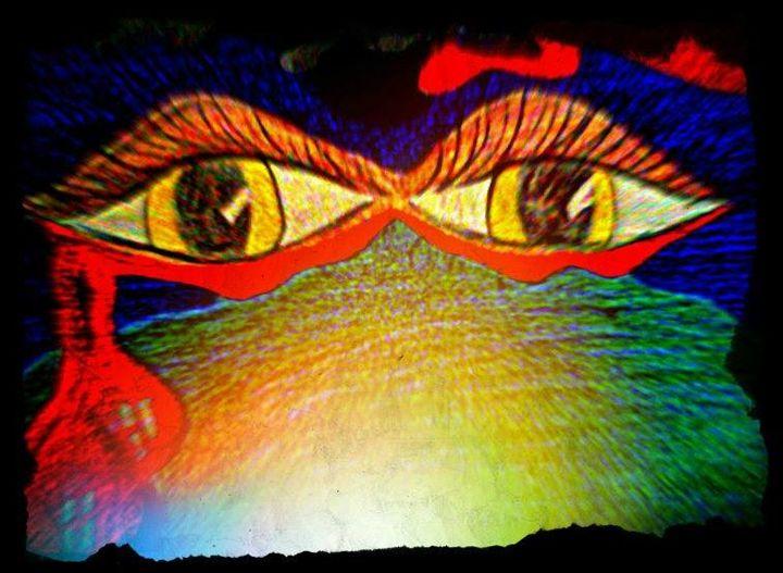 Abstract Pop Art Print of Eyes! - La Casa De Seviles