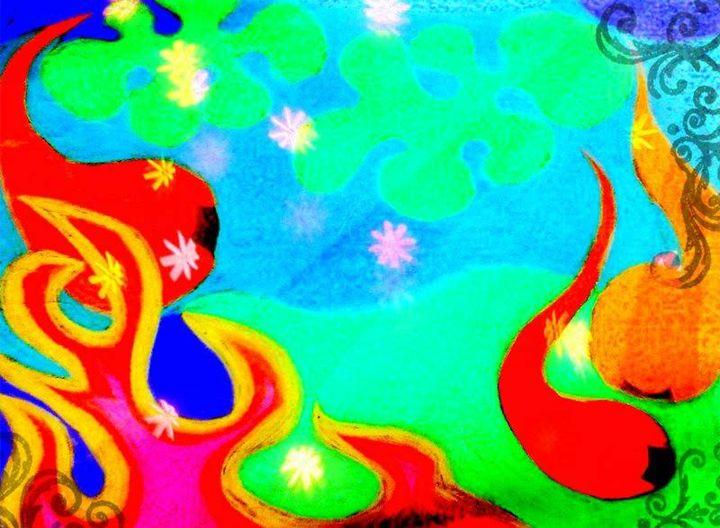 Mixed Media Abstract Wall Art! - La Casa De Seviles