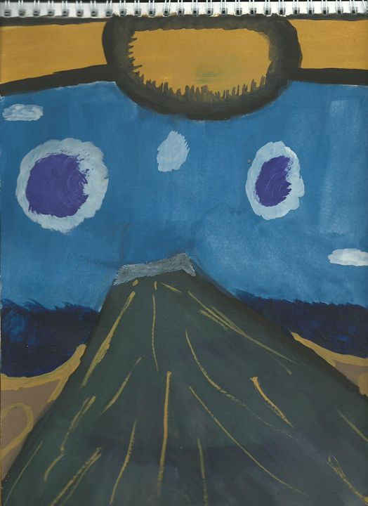 Purple Mountain - Random paints