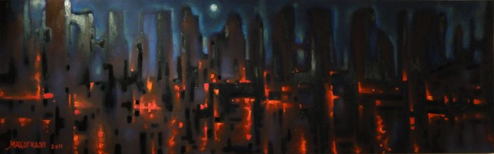Urban fire - Paintings
