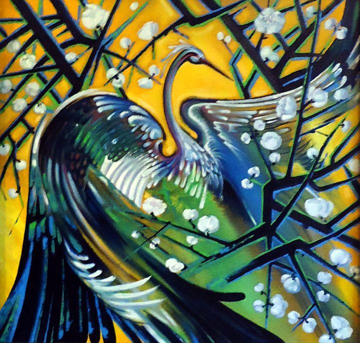 Heron - Paintings