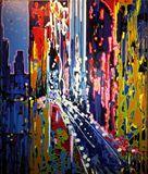 acrylic paint on canvas 126 x 106 x