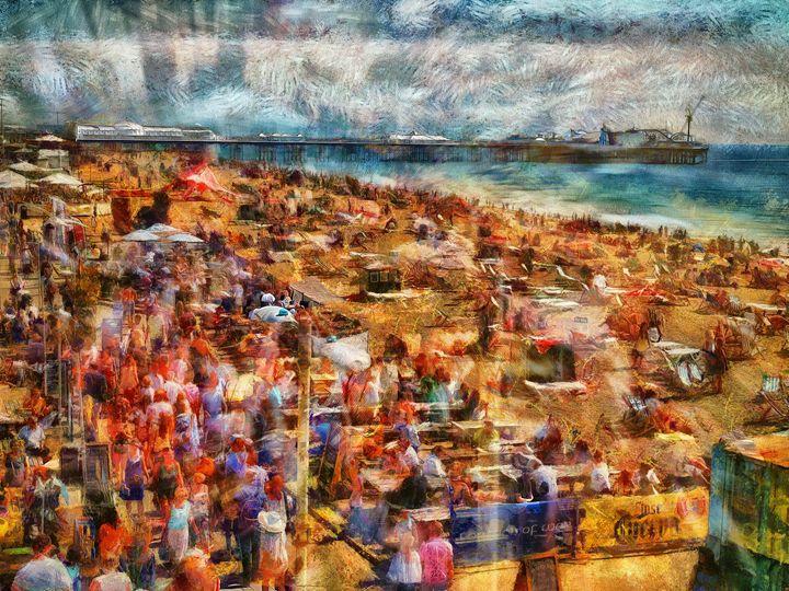 A sea of humanity - Leigh Kemp Photo Art