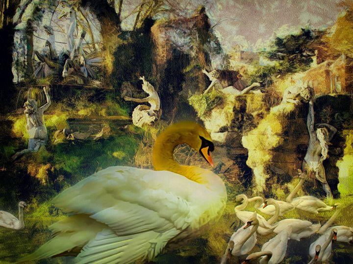 Adoration of the swan - Leigh Kemp Photo Art