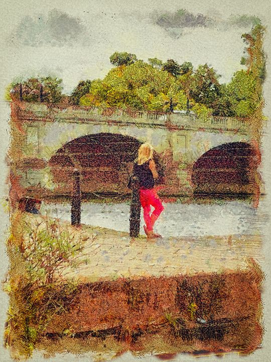 The girl by the river - Leigh Kemp Photo Art