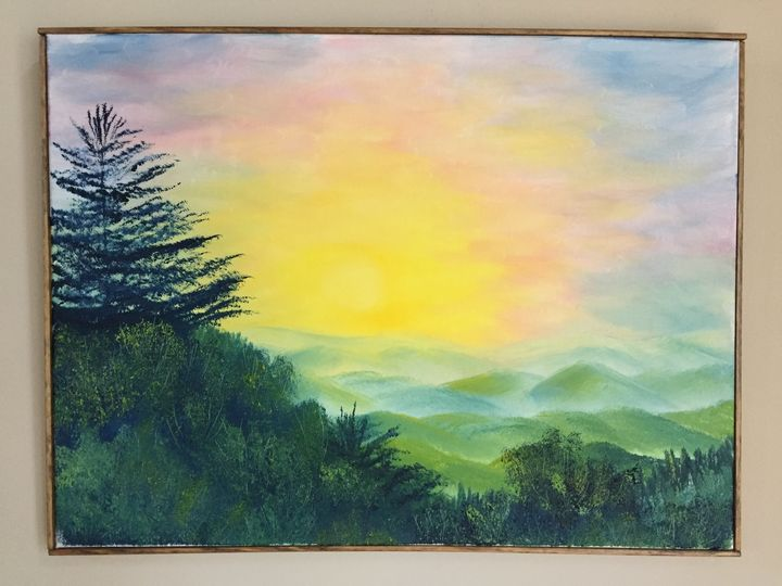 Blue Ridge in the Morning - Wild Blue Yonder Art Studio