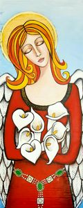 Arum lily angel