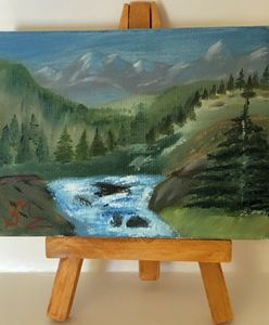 Mountain Scene with a Stream