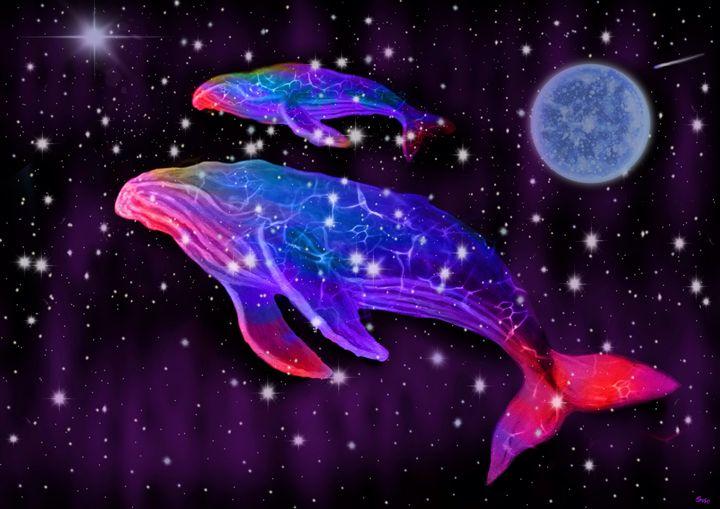 Celestial Rainbow Whales - Nick Gustafson