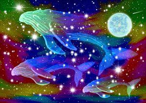 Celestial Rainbow Whales 2