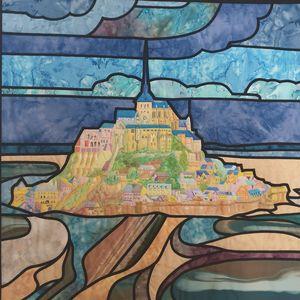 Le Mont Saint-Michel façon Vitrail