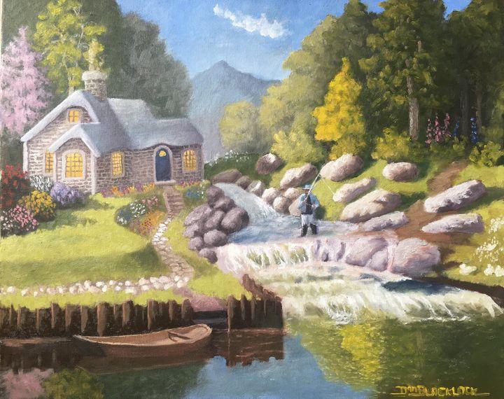 Mountain Sanctuary - DanielBlacklockArt