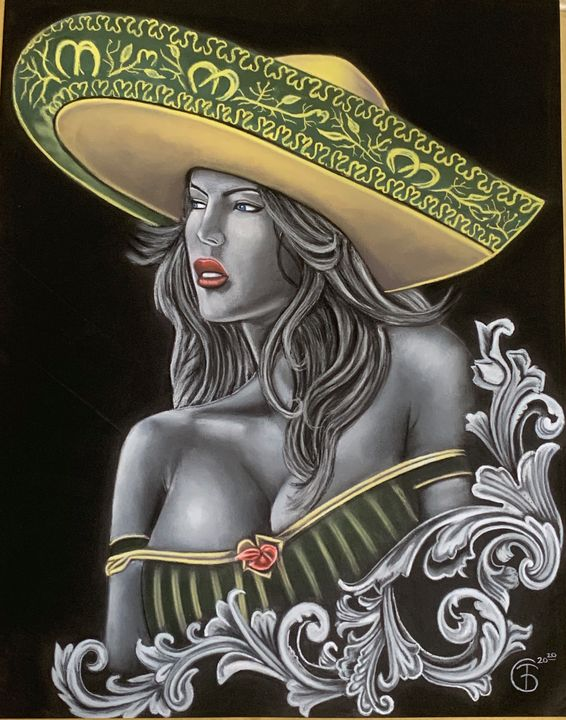 sombrero chick - Troy Giles