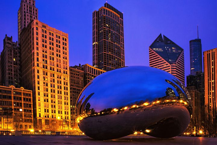Chicago's Bean at Twilight - Vision & Light Photography