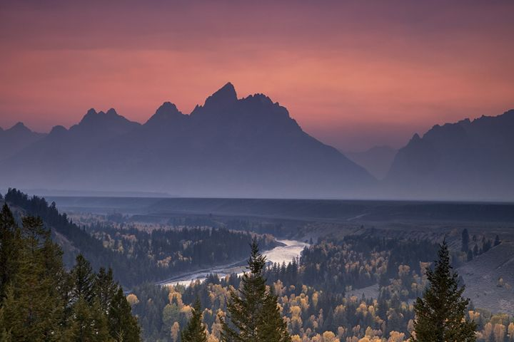 Misty Teton Sunset - Vision & Light Photography