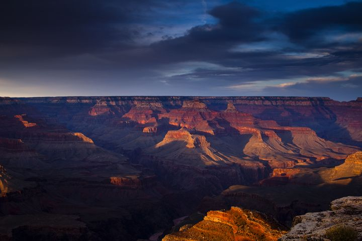 Shadows Play at the Grand Canyon - Vision & Light Photography