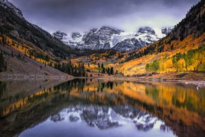 Storm Clouds over Maroon Bells