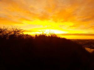 Exploding sunrise