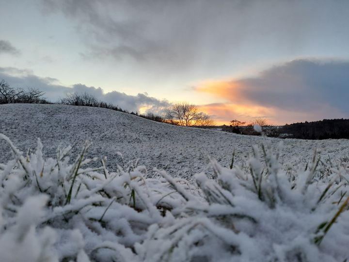 Frozen sunrise - Ireland