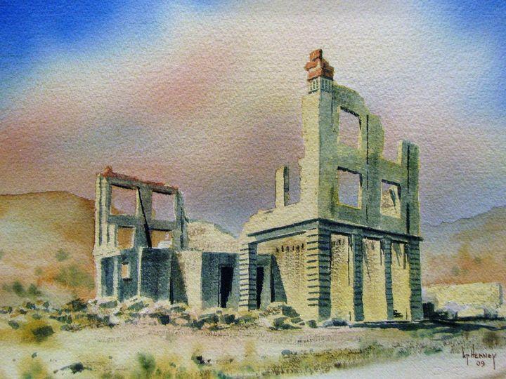 Bank Rhyolite Ghost Town, Nevada - Heaney Art Gallery