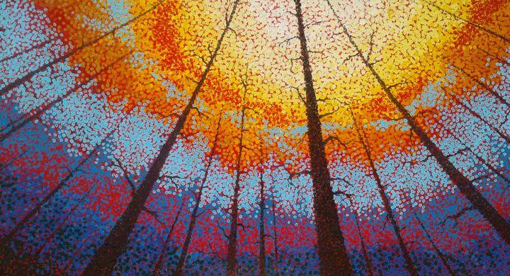 Fire Over Montana - Heaney Art Gallery