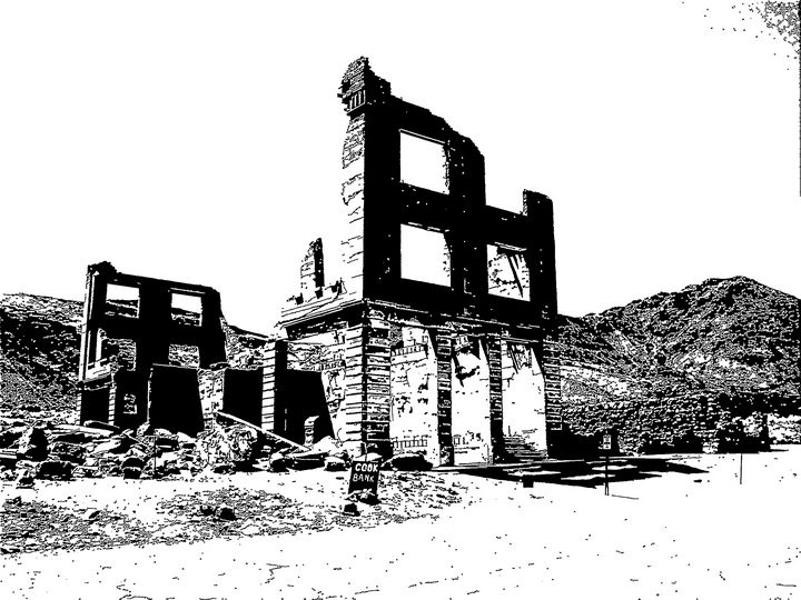 Rhyolite Ghost Town Nevada - Heaney Art Gallery