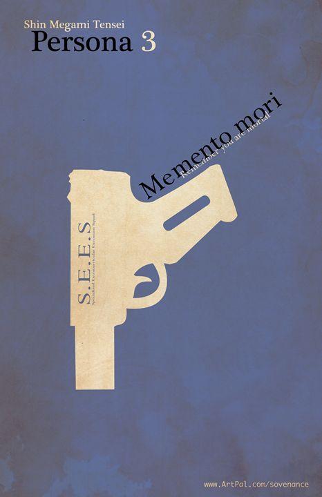 Persona 3 MInimalist Poster - SOVENANCE