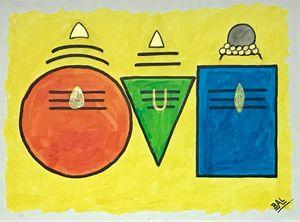 Abstract Shiva Family