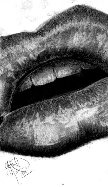 Charcoal Lips - AK Arts
