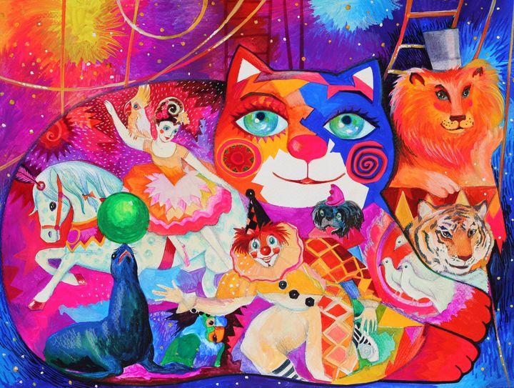 Circus cat - oxana zaika