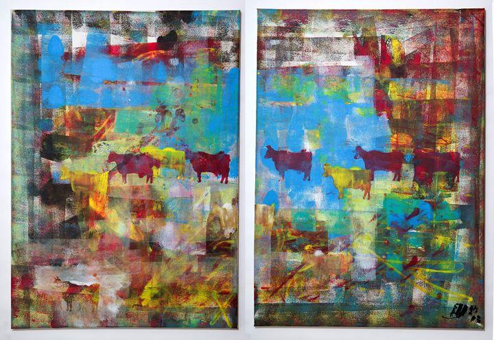 cows (diptych) - Matej Merlot Hutta